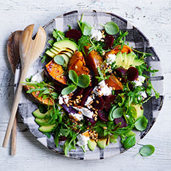 Rocket, roasted beetroot and caramelised pumpkin thumbnail