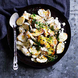 Sauteed chat potato salad thumbnail