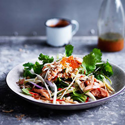 Smoked trout and green mango salad - serves 10 thumbnail