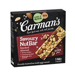 Carmans Kitchen - savoury smoked almond nut bar thumbnail