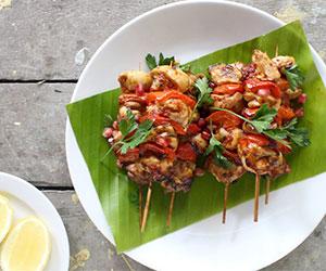 Lemon and sumac chicken skewer thumbnail