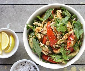 Roast cajun chicken salad thumbnail