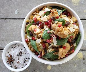 Roast cauliflower and pomegranate salad thumbnail