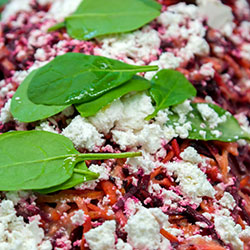Beetroot, carrot and feta salad thumbnail