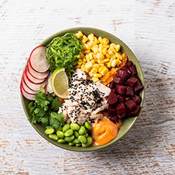 Sriracha chicken poke bowl thumbnail