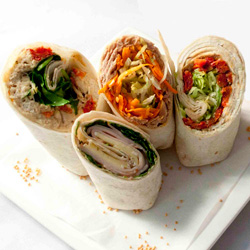 Assorted gourmet wraps thumbnail