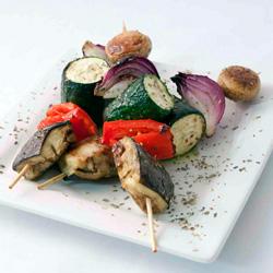 Char-grilled vegetable skewers thumbnail