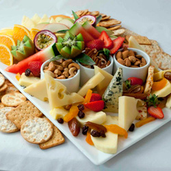 Fresh fruit and cheese platter thumbnail