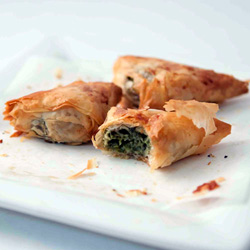 Spinach and feta filo pastry - mini thumbnail
