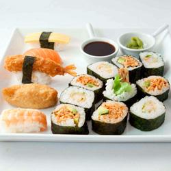 Sushi and nori platter thumbnail