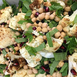 Brussel sprout, rocket, chickpea and pecorino salad thumbnail
