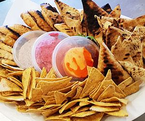 Dips and breads platter - serves 15 thumbnail