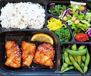 Teriyaki salmon bento box thumbnail