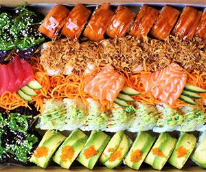 Deluxe rainbow sushi sashimi platter thumbnail