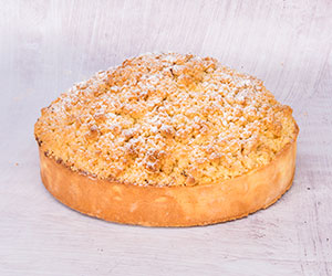 Pear and custard crumble tart thumbnail
