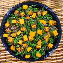 Pumpkin, kale and quinoa salad thumbnail