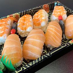 Salmon and prawn sushi box thumbnail
