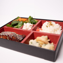 Grilled teriyaki salmon bento box thumbnail