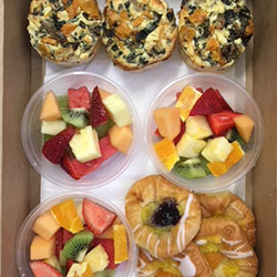Frittata, Danish and fruit salad thumbnail