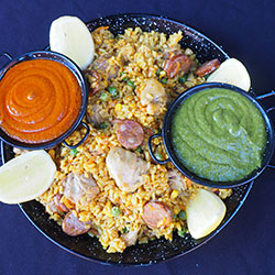 Gourmet paella platter thumbnail