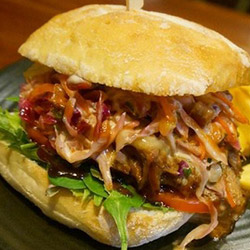 Pulled pork ciabatta roll thumbnail