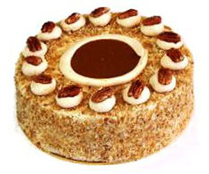 Caramel roulade cake - 24 cm - serves up to 14 thumbnail