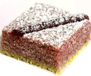 Raspberry and coconut slice thumbnail