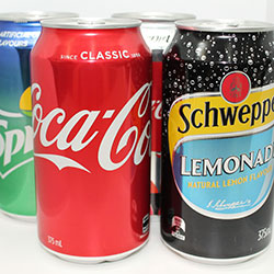 Assorted soft drinks thumbnail