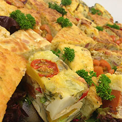 Roast vegetable frittata squares thumbnail