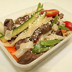 Rare beef Thai noodle salad thumbnail