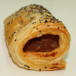 Homemade sausage rolls - mini thumbnail