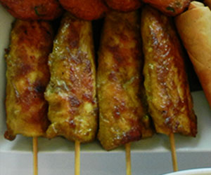 Satay chicken skewer thumbnail