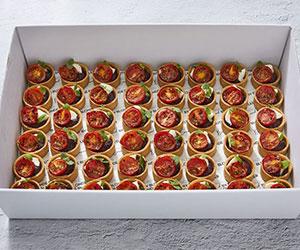 Black olive, blistered tomato and bocconcini tart thumbnail