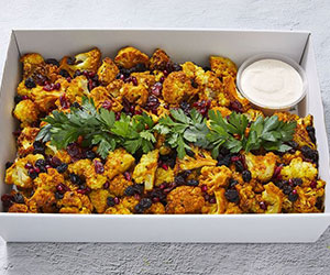 Roast cauliflower wtih tahini yoghurt thumbnail