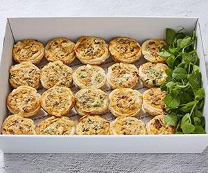 Chorizo and spinach tarts thumbnail