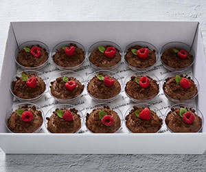 Dark chocolate mousse cups thumbnail