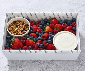 Mixed fresh berry box and coconut yoghurt thumbnail