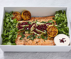 Whole cooked side of salmon - 1.8kg thumbnail