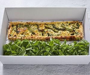 Zucchini, asparagus and gruyere tart thumbnail