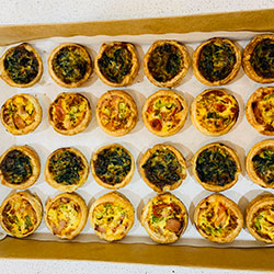 Homemade gourmet quiches - mini thumbnail