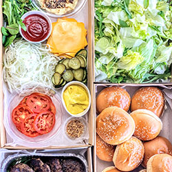 Build your own burger lunch thumbnail