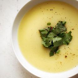 Gruyere, leek and potato soup thumbnail