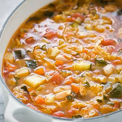 Brown rice and winter vegetable minestrone soup thumbnail