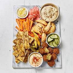 Vegan middle eastern platter thumbnail