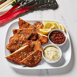 Chicken schnitzel platter thumbnail