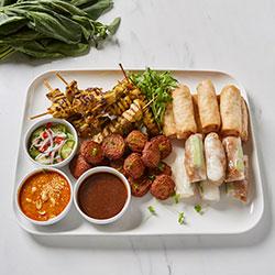 Cold Asian finger food platter thumbnail