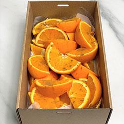 Freshly cut orange wedges  thumbnail