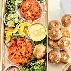 Smoked salmon mini bagel grazer thumbnail