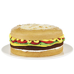 Cheeseburger cake thumbnail