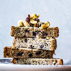 Apple, cranberry and muesli bread slice thumbnail